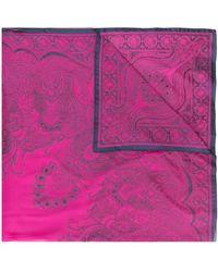 Etro Sjaal Met Paisley-print - Roze