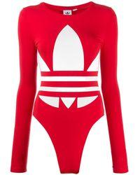 adidas Bodysuit Met Logoprint - Rood