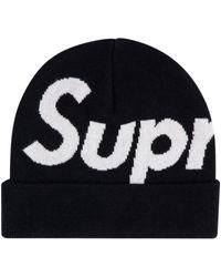 Supreme Шапка Бини Big Logo - Черный