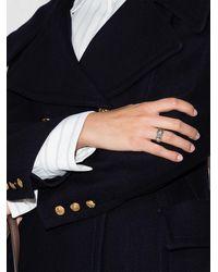 Gucci Серебряное Кольцо GG Marmont С Логотипом - Металлик