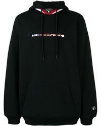Alexander Wang Basketball Branded Hoodie - Black