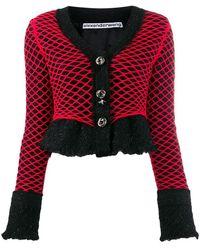 Alexander Wang Tweed Fishnet Jacket - Black