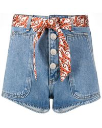 Sandro Jeans-Shorts mit Gürtel - Blau