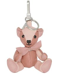 Burberry - Thomas Bear Charm In Leather - Lyst