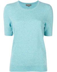 N.Peal Cashmere ショートスリーブ セーター - ブルー