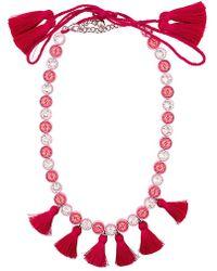 Shourouk - 'sautoir' Tassel Necklace - Lyst