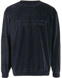 Paura ロングスリーブ セーター - ブルー