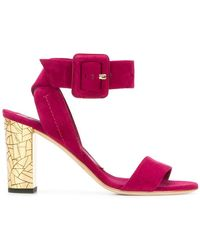 Brian Atwood - Buckle Strap Sandals - Lyst