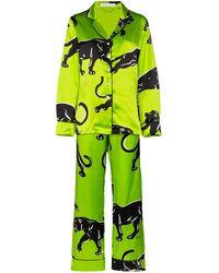 Olivia Von Halle Pijama Lila Hades estampado - Verde