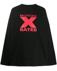 Balenciaga Футболка X-rated Свободного Кроя - Черный
