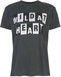 Anine Bing Vintage Wild Heart Tシャツ - ブラック