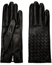 Bottega Veneta Nappa Leather Gloves - Black