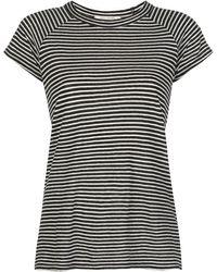 Nili Lotan ストライプ Tシャツ - ブラック