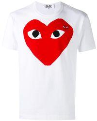 COMME DES GARÇONS PLAY T-Shirt mit Logo-Print