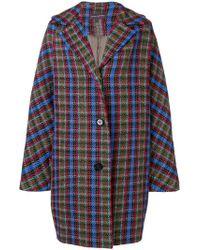 Talbot Runhof - Oversized Check Coat - Lyst