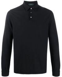 Zanone ロングスリーブ ポロシャツ - ブラック