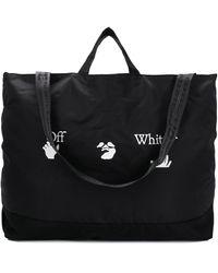 Off-White c/o Virgil Abloh Shopper mit Logo-Print - Schwarz