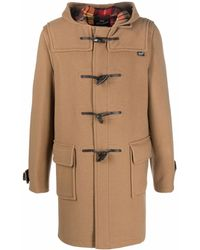 Gloverall Hooded Duffle Coat - Brown
