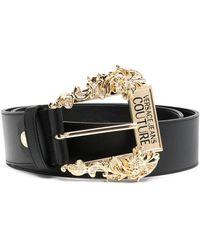 Versace Jeans Couture ロゴバックル ベルト - ブラック