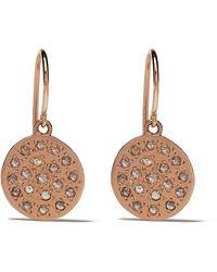 Brooke Gregson Orecchini rotondi Mars in oro rosa 14kt e diamanti - Metallizzato