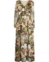 Liu Jo Robe longue à fleurs - Multicolore