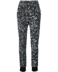 A.F.Vandevorst Printed Tapered Pants - Black