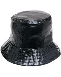 Karl Lagerfeld メタリック バケットハット - ブラック