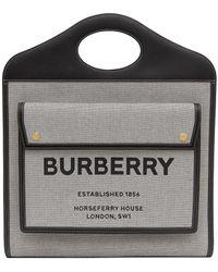 Burberry ポケット ハンドバッグ M - ブラック