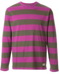 Kent & Curwen ストライプ Tシャツ - パープル
