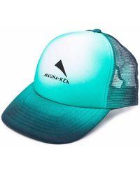 Mauna Kea Logo Tie-dye Baseball Cap - Blue