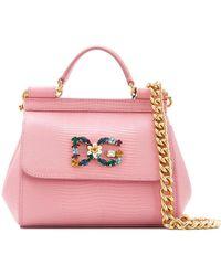 Dolce & Gabbana Мини-сумка-тоут 'sicily' - Розовый
