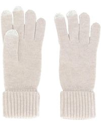 N.Peal Cashmere - Ribbed Touch Screen Gloves - Lyst