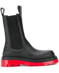 Bottega Veneta Ботинки На Массивной Подошве - Черный