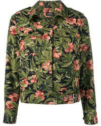 A.P.C. Куртка-рубашка С Цветочным Принтом - Синий