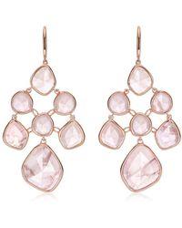 Monica Vinader Rp Siren Chandelier Rose Quartz Earrings - Розовый