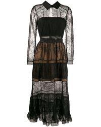 Self-Portrait レースドレス - ブラック
