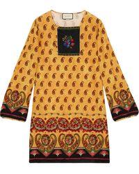 Gucci ペイズリー チュニックシャツ - マルチカラー