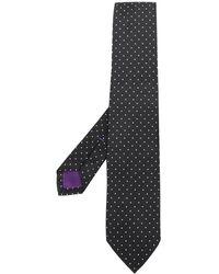 Ralph Lauren Purple Label ポルカドット シルクネクタイ - ブラック