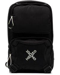 KENZO Рюкзак Active На Одно Плечо С Логотипом - Черный