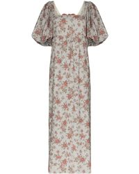 Masterpeace Floral Print Maxi Dress - Red