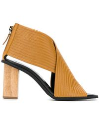 2dfc092543e TOPSHOP Nancy Chunky Wooden Sandals in Black - Lyst