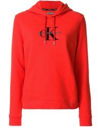 Ck Jeans - Logo Print Hoodie - Lyst