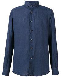 Glanshirt Slim-fit Shirt - Blue
