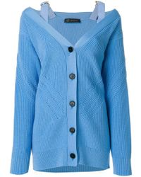Versace - V-neck Knit Cardigan - Lyst