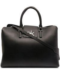 Calvin Klein Сумка-тоут С Поворотным Замком И Логотипом - Черный