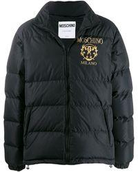 Moschino ロゴ パデッドジャケット - ブラック