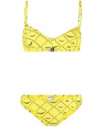 Zadig & Voltaire Bikini à motif monogrammé - Jaune