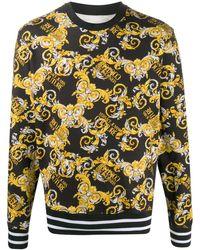 Versace Jeans Couture - Толстовка С Принтом Logo Baroque - Lyst