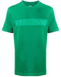 C P Company ロゴ Tシャツ - グリーン