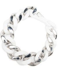 Philipp Plein Chunky Chain Necklace - White